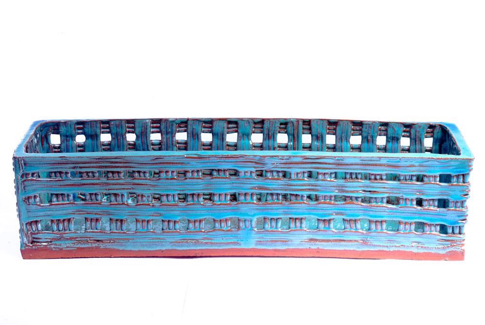 Retangulão Rendado Azul Jade