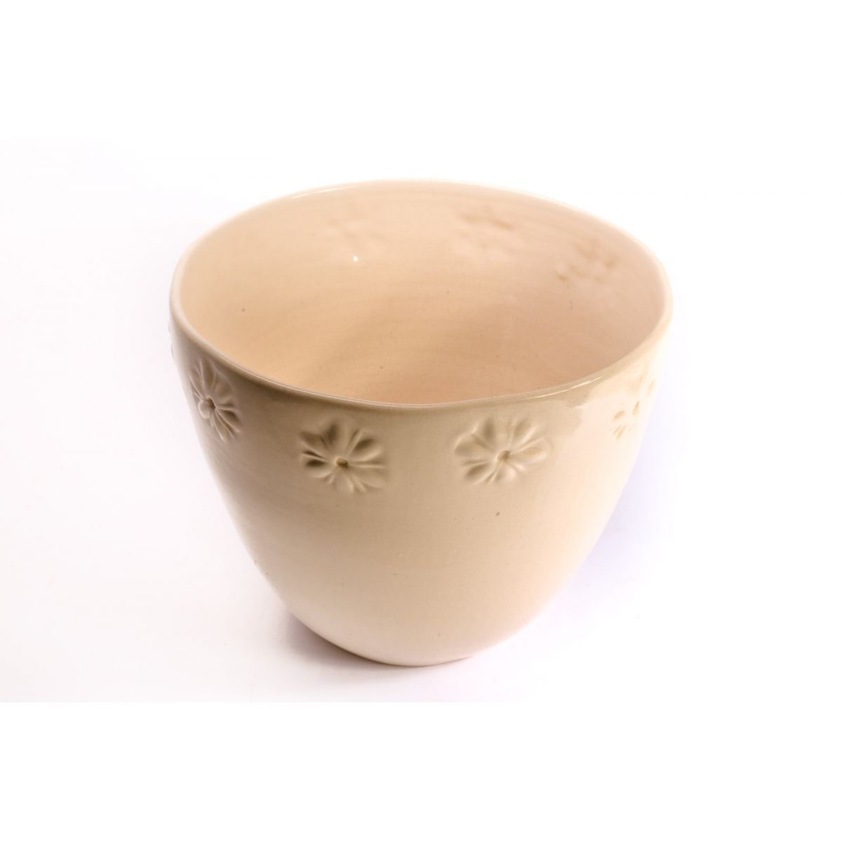 Vaso Floral Barrado Off White