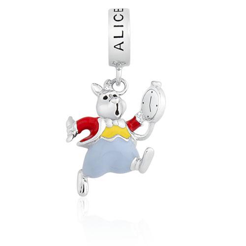 Berloque Alice no País das Maravilhas - Coelho Branco