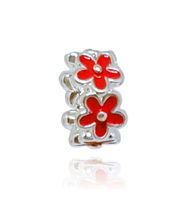 Berloque Separador Flores - Vermelhas