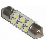 Torpedo 31 Mm 6 Led Smd Luz Cortesia Placa Teto Interior
