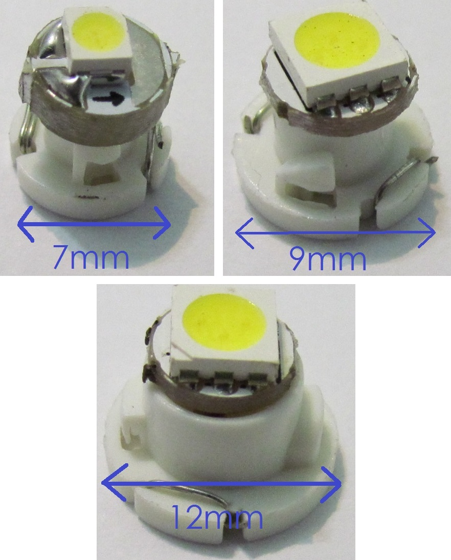 Kit 6 Lâmpadas Painel T3 T4.2 T4.7 Led Smd Mosquito Pingo