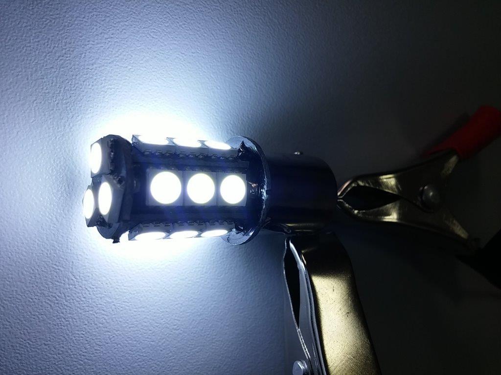 Par Lampada Ré 18 Led Smd Luz Tuning 1156 P21w Efeito Xenon