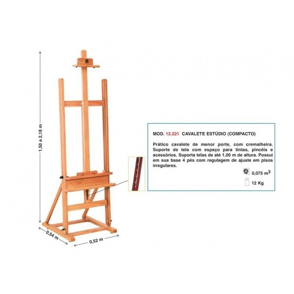 Cavalete Pintura Estúdio (compacto) - Trident 12.221-  SOMENTE NA LOJA FÍSICA