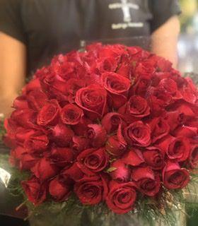 Bouquet 100 rosas vermelhas