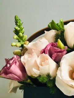 Caixa bolsa com flores