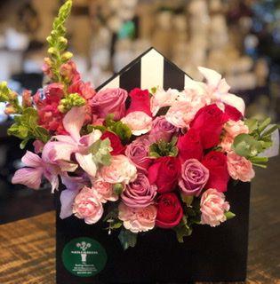Envelope com flores