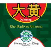 Da Huang (Rheum Officinale) 350mg 60 cápsulas - RUIBARBO EM CÁPSULAS - Panizza