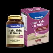 Hair, Skin & Nails ( Cabelo, Pele e Unhas) Suplemento Alimentar em Cápsulas 60 cápsulas  Reg. MS: RDC nº240/2018.