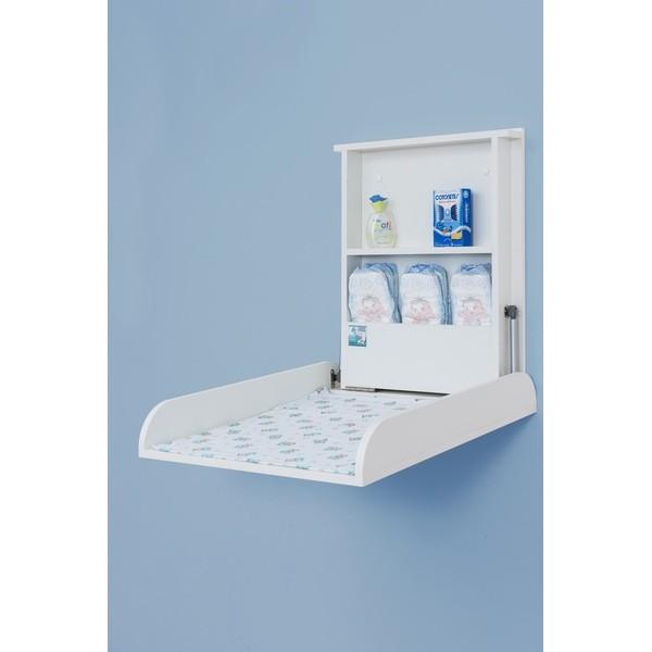Trocador de Bebe retratil  MDF - Fraldario - Soft