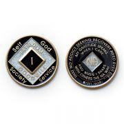 Medalhão triplate Black EN-6500