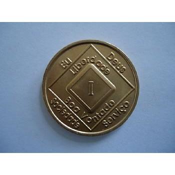 Medalhão de bronze em hebraico HE-4300
