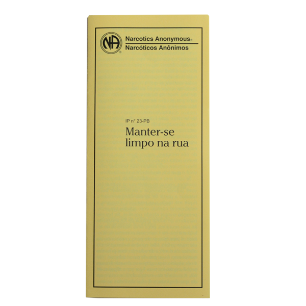 MANTER-SE LIMPO NA RUA PB-3123