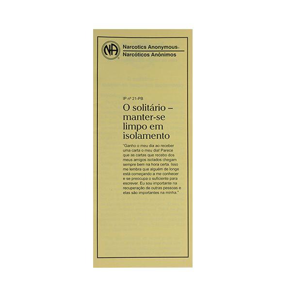 O SOLITARIO CONTINUAR LIMPO E ISOLADO PB-3121