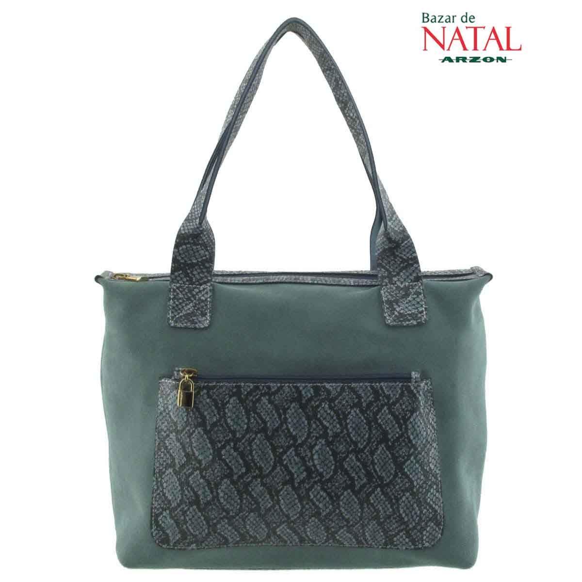 Bolsa De Couro Legitimo Azul : Bolsa em couro legitimo prata