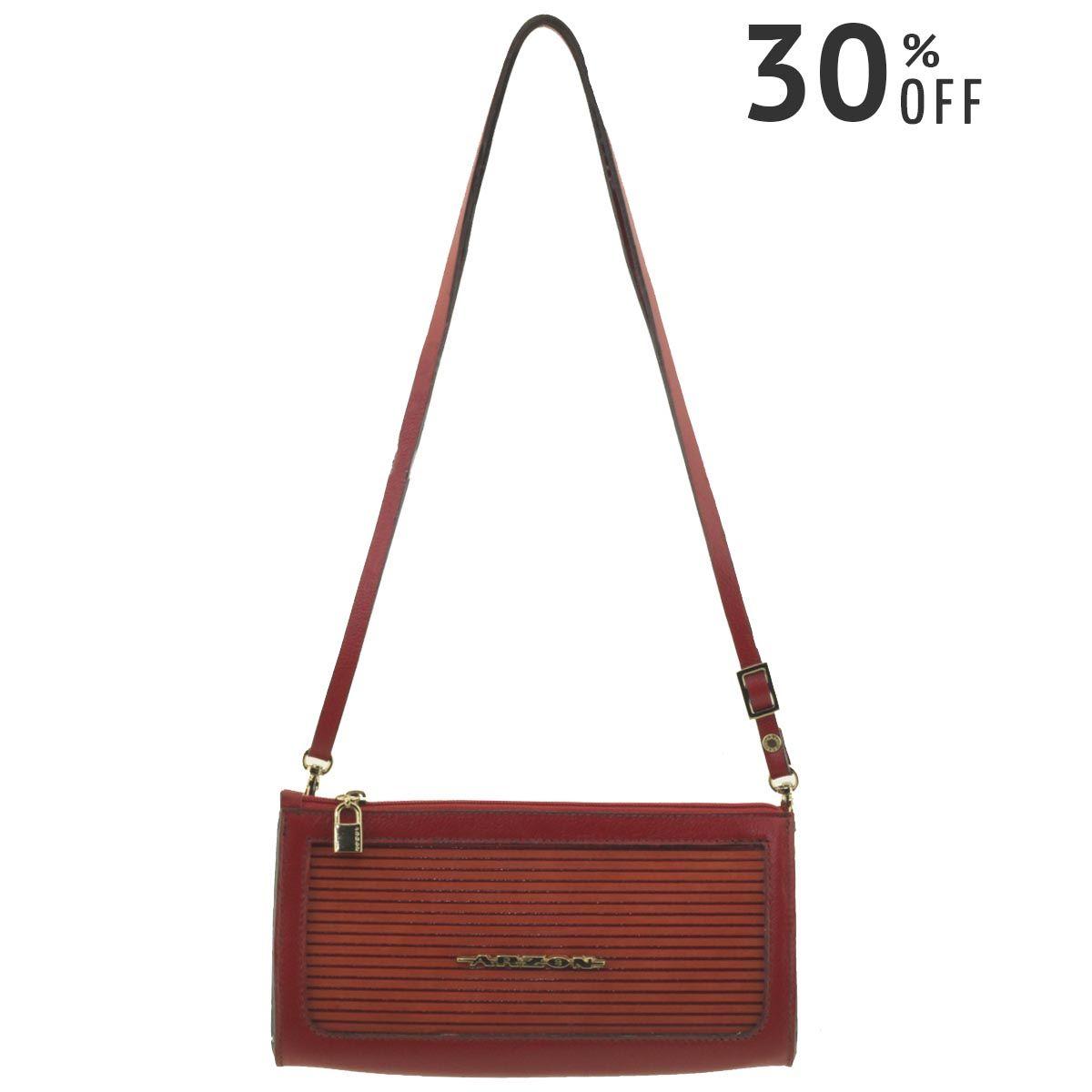 Bolsa Estruturada Pequena Vermelho