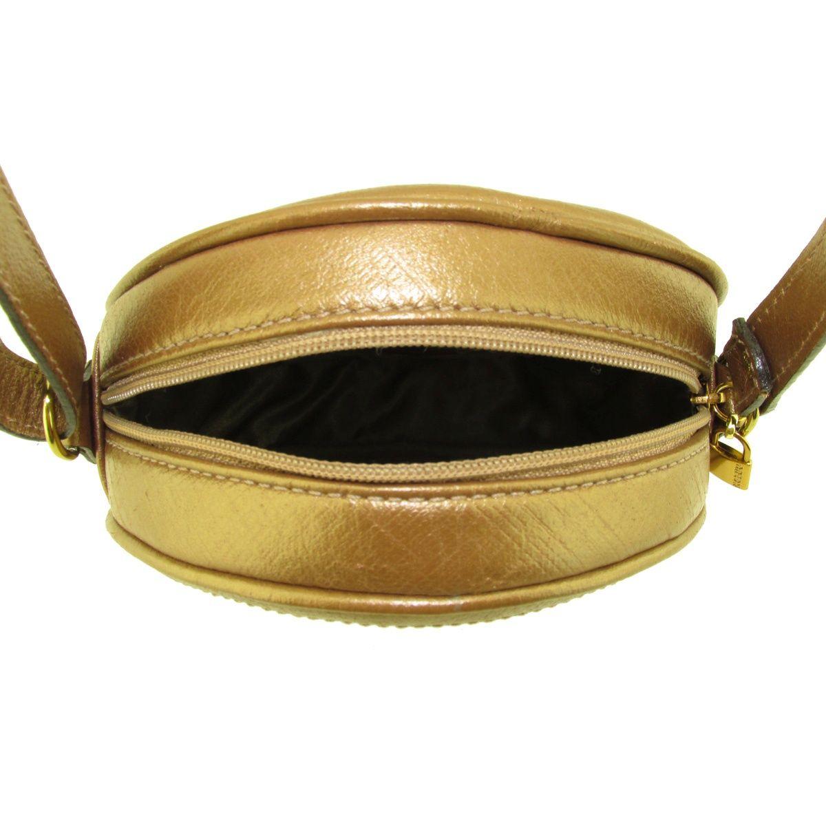 Bolsa Dourada Look : Bolsa feminina redonda dourada