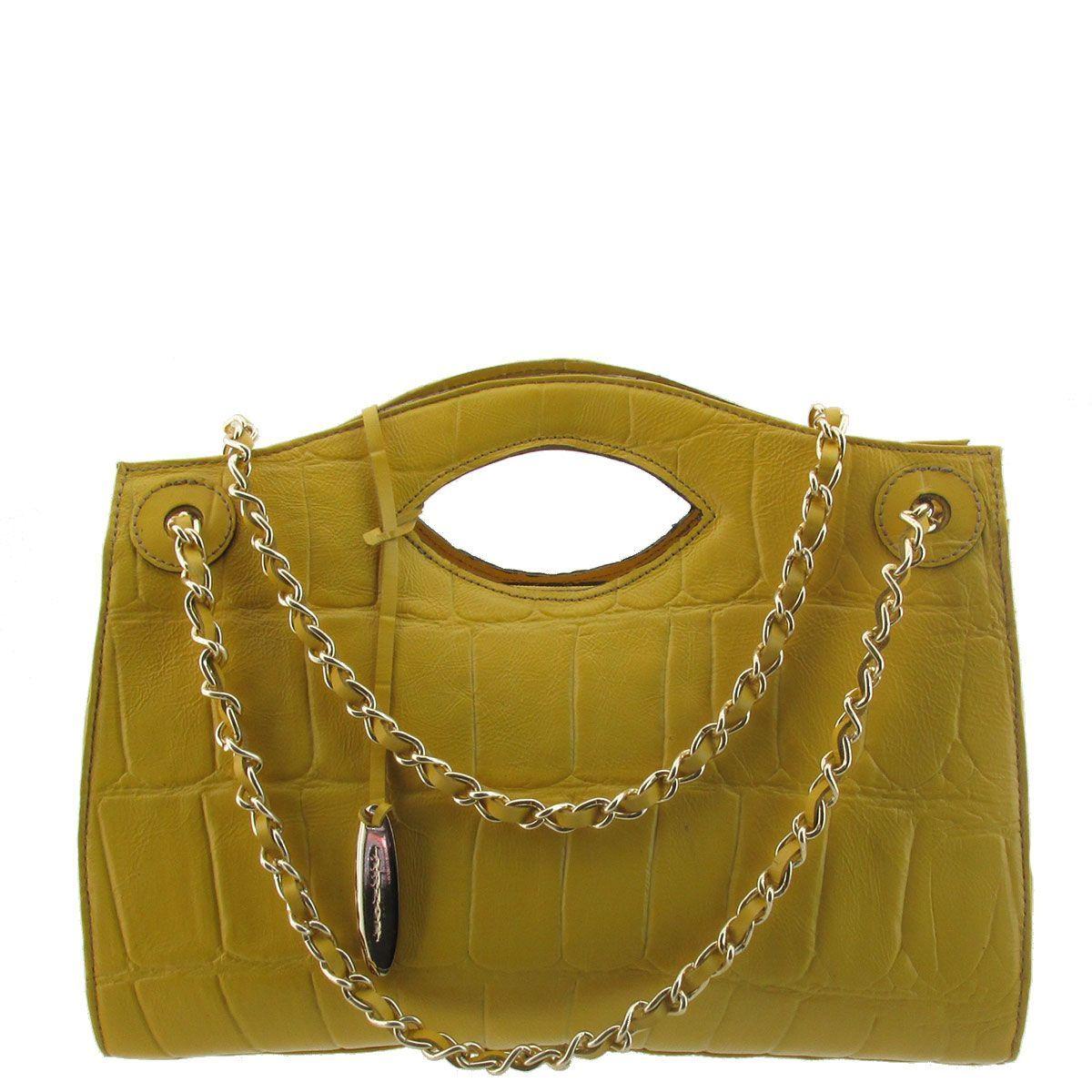Bolsa De Mão Amarela : Arzon bolsa m?o com corrente amarela