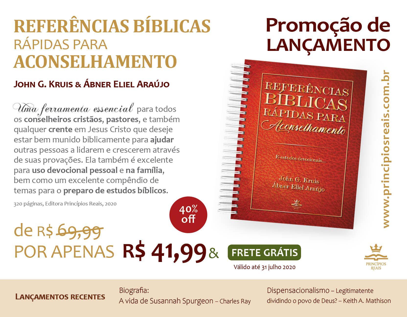 PROMOÇÃO de LANÇAMENTO - Referências bíblicas rápidas para aconselhamento