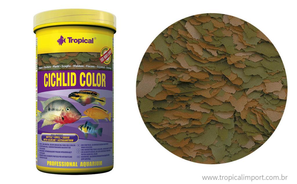 Tropical Cichlid Color Flakes 50g  - Aquário Estilos