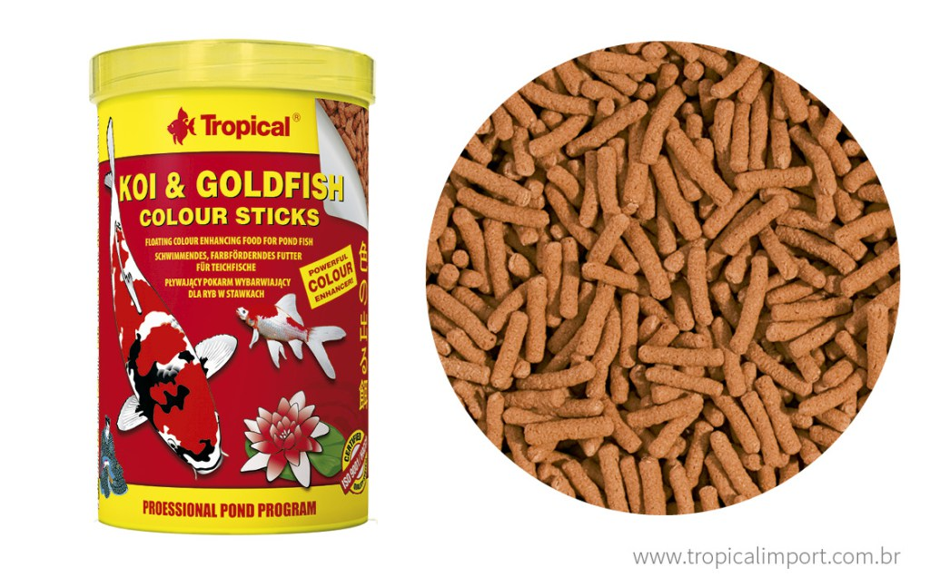 Tropical Koi & Goldfish Colour Sticks 90g  - Aquário Estilos