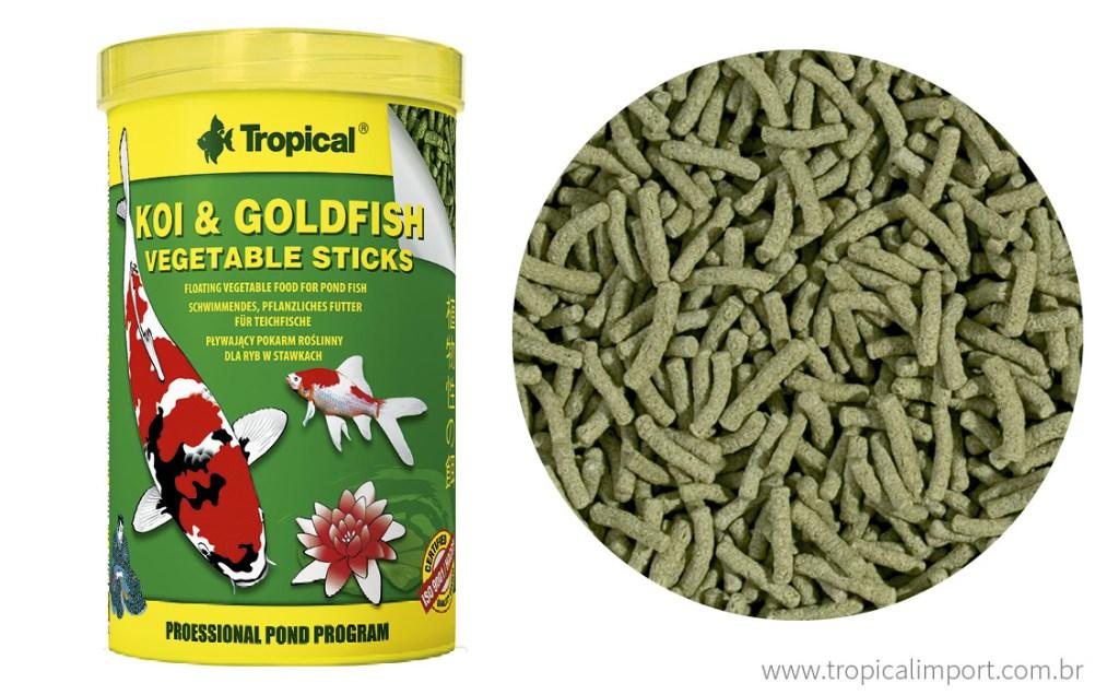 Tropical Koi & Goldfish Vegetable Sticks Bag 90g  - Aquário Estilos