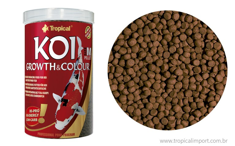 Tropical Koi growth & colour pellet  - Aquário Estilos