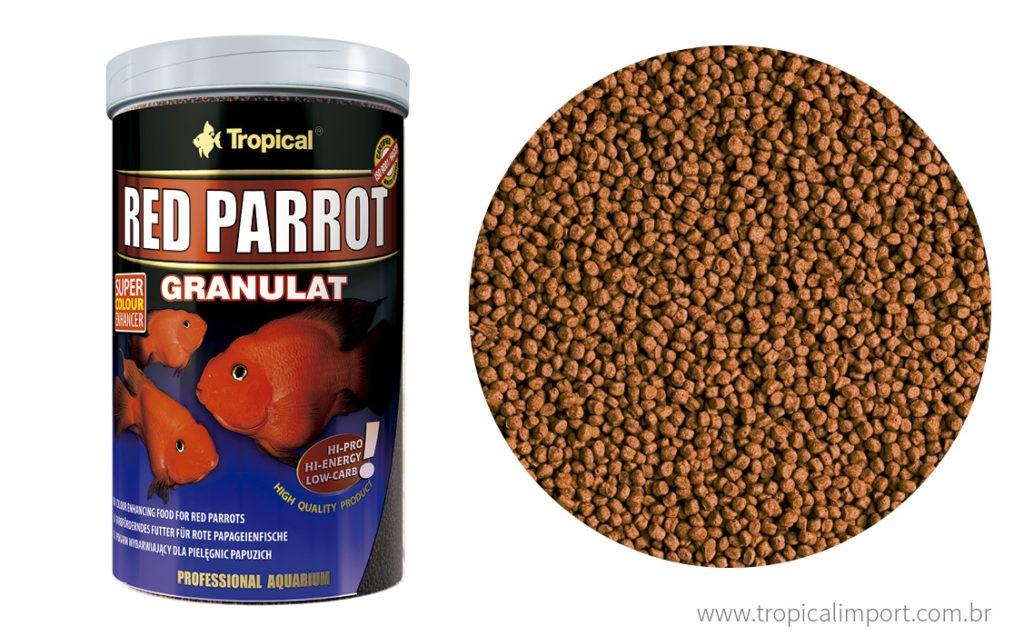 Tropical Red Parrot Granulat 400g  - Aquário Estilos