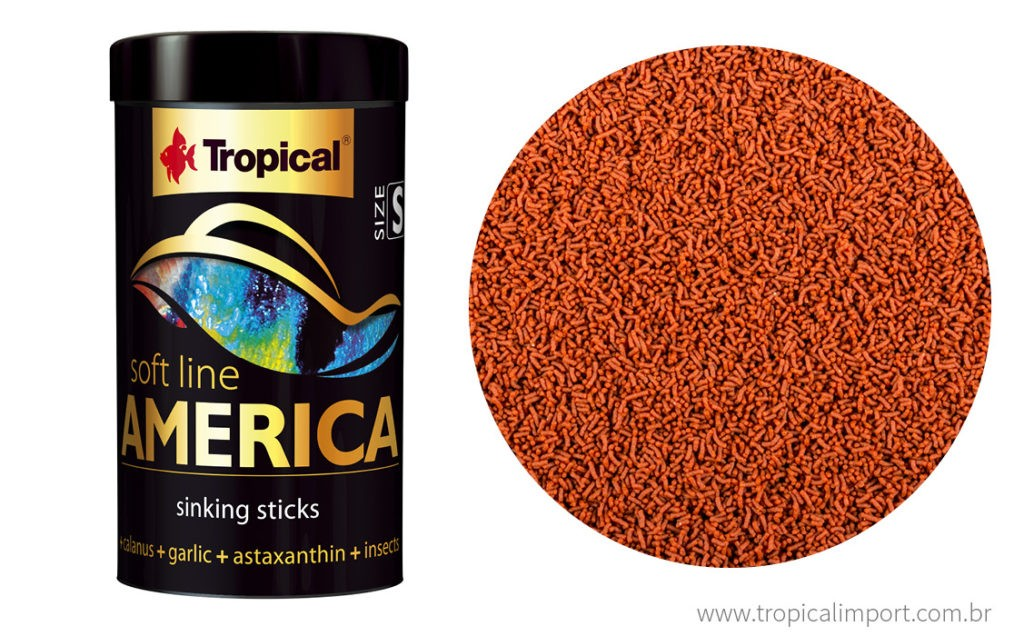 Tropical Soft Line America (S) 140g  - Aquário Estilos