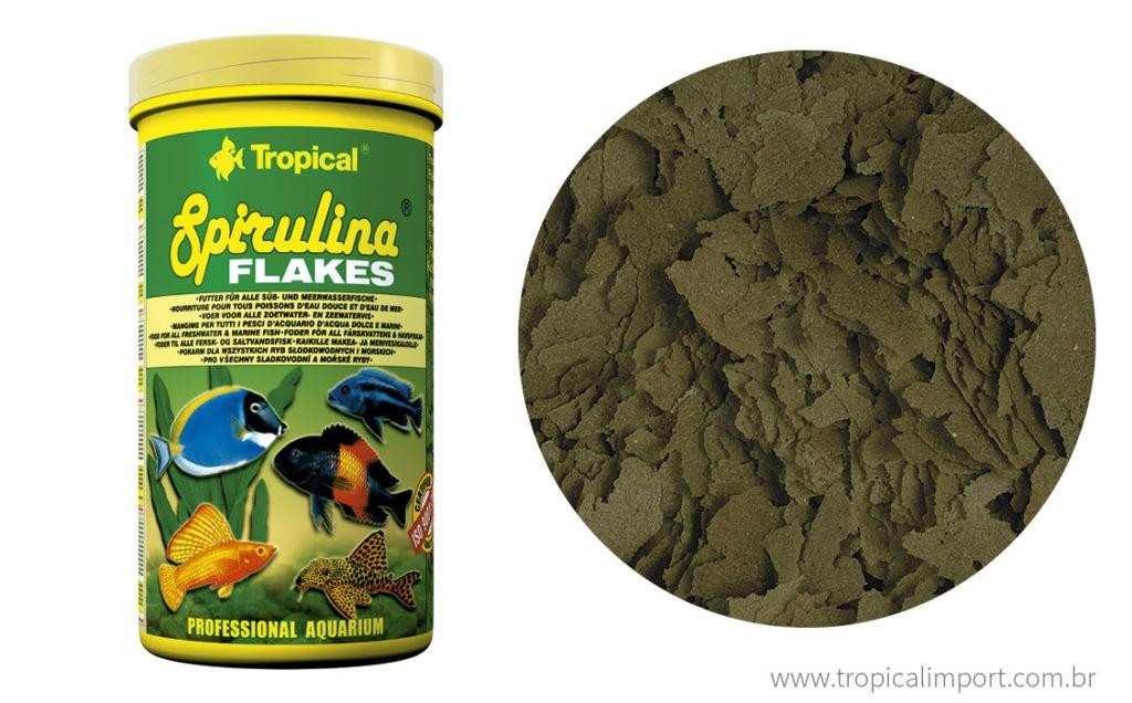 Tropical Spirulina Flakes Pote 20g   - Aquário Estilos