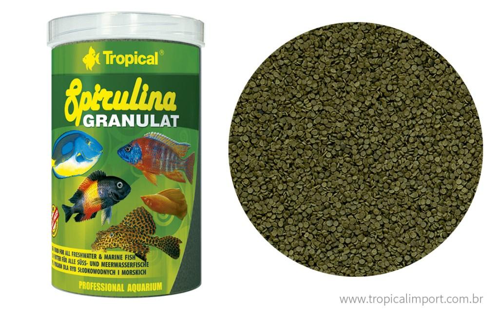 Tropical Spirulina Granulat Pote 440g  - Aquário Estilos