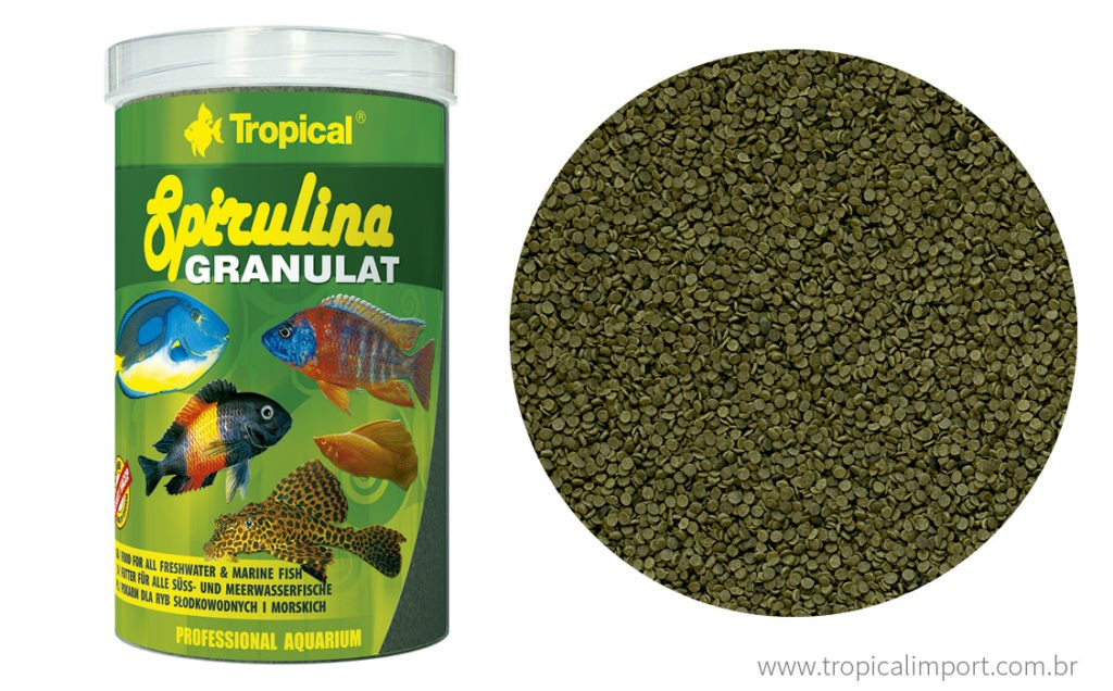 Tropical Spirulina Granulat 44g  - Aquário Estilos