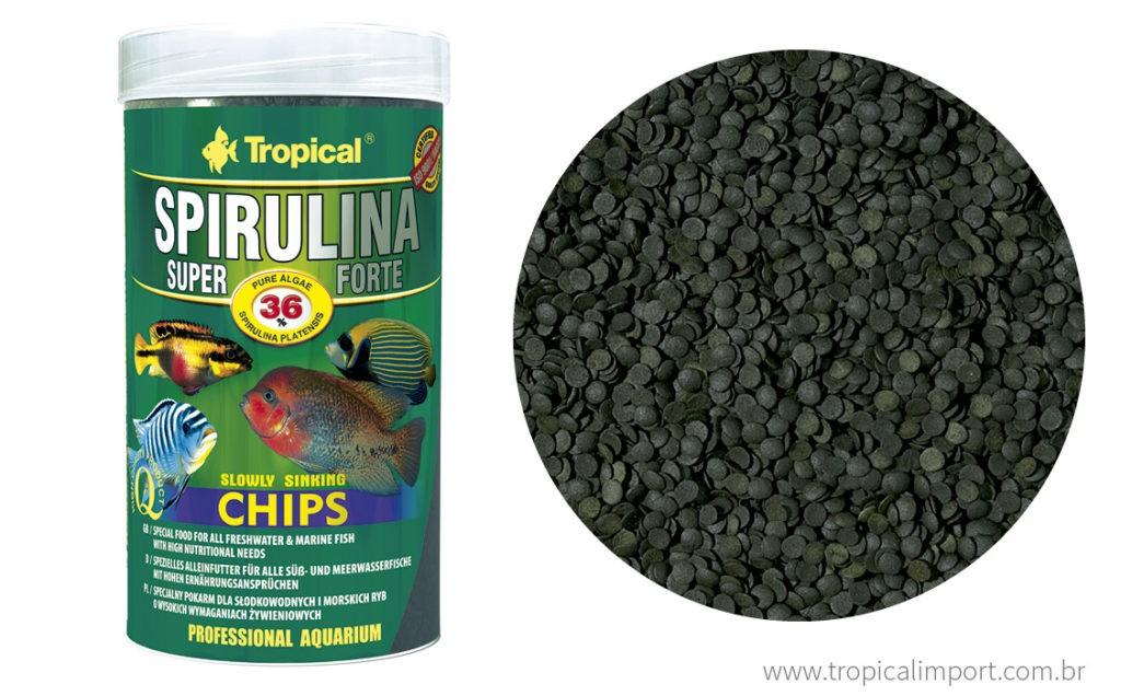 Tropical Spirulina Super Forte CHIPS 130g  - Aquário Estilos