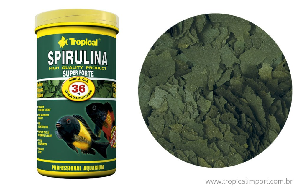 Tropical Spirulina Super Forte Flakes Pote 200g  - Aquário Estilos