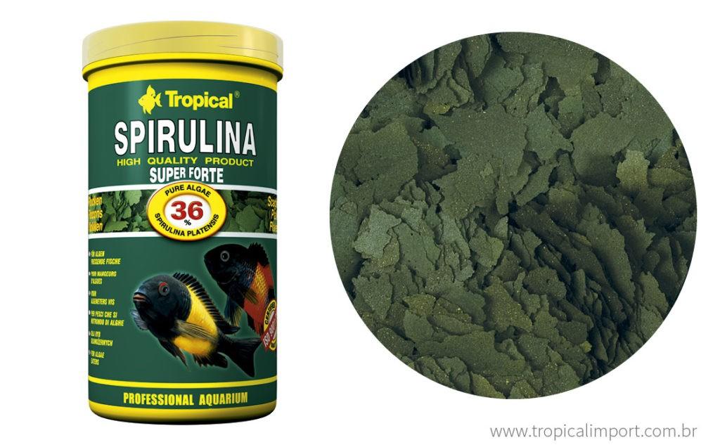 Tropical Spirulina Super Forte Flakes 50g  - Aquário Estilos