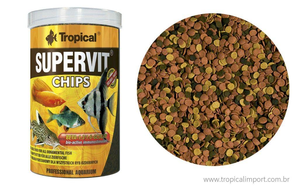 Tropical Supervit Chips 52g  - Aquário Estilos