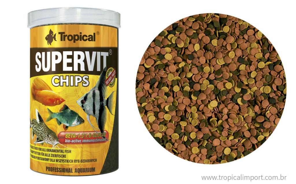 Tropical Supervit Chips 130g  - Aquário Estilos