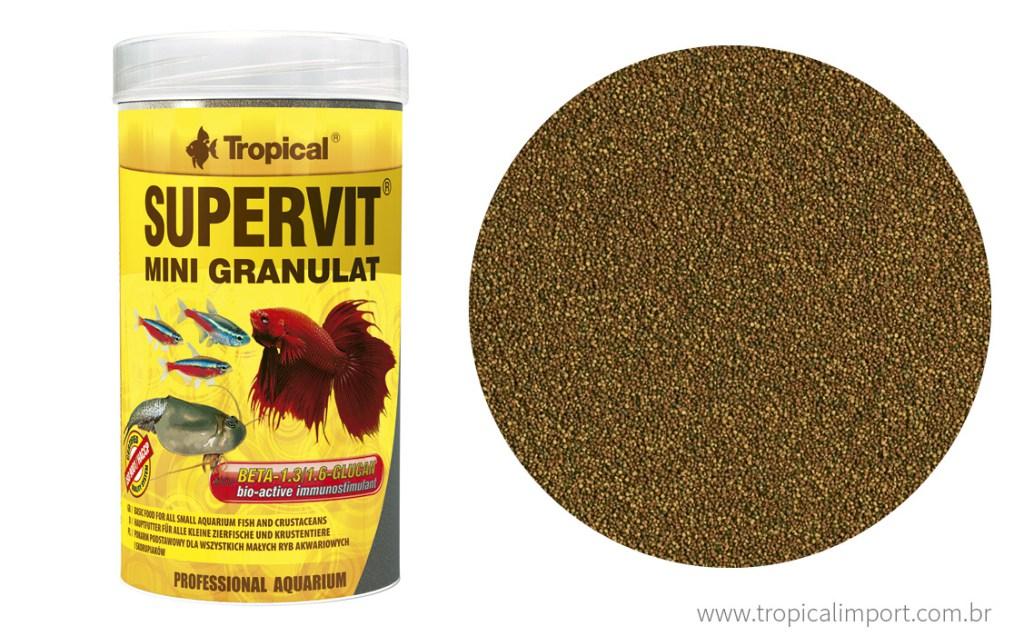 Tropical Supervit Mini Granulat Shachê 10g  - Aquário Estilos