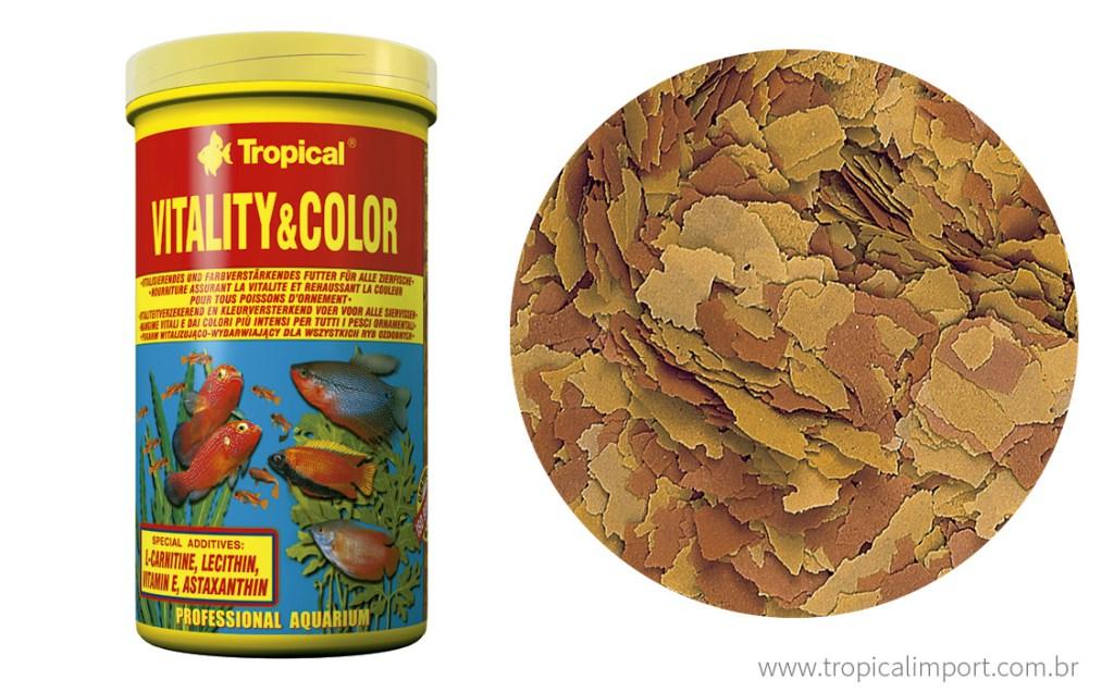 Tropical Vitality & Color Flakes 20g  - Aquário Estilos