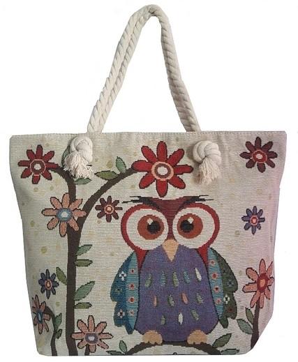 Bolsa De Tecido Com Alça De Bambu : Ditudotem bolsa de tecido feminina coruja al?a corda