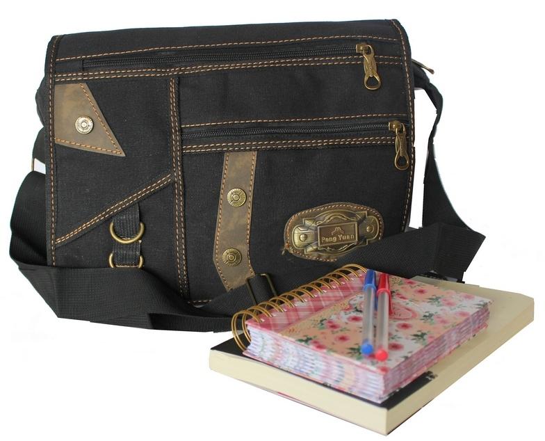 Bolsa Escolar Feminina Transversal : Ditudotem bolsa pasta escolar tecido ombro e transversal