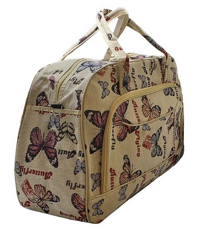 Bolsa De Viagem De Mão Feminina : Ditudotem mala bolsa de m?o viagem grande borboleta