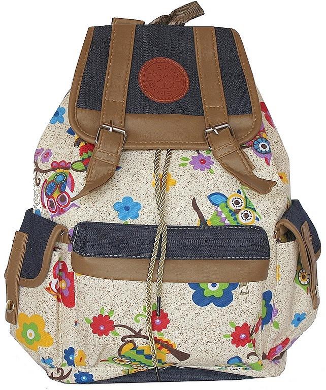 Bolsa Mochila Feminina Juvenil Lona Escolar Universitária : Ditudotem mochila coruja escolar feminina tecido lona