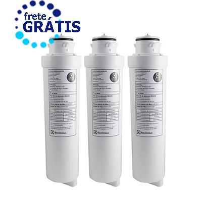 Filtro Refil para Purificador de Agua Electrolux PE10B/PE10x Original Kit 3 peças + Frete Grátis