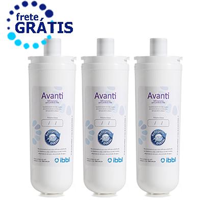 Refil Filtro Purificador de Água IBBL Avanti MIO Kit 3 Peças + Frete Grátis