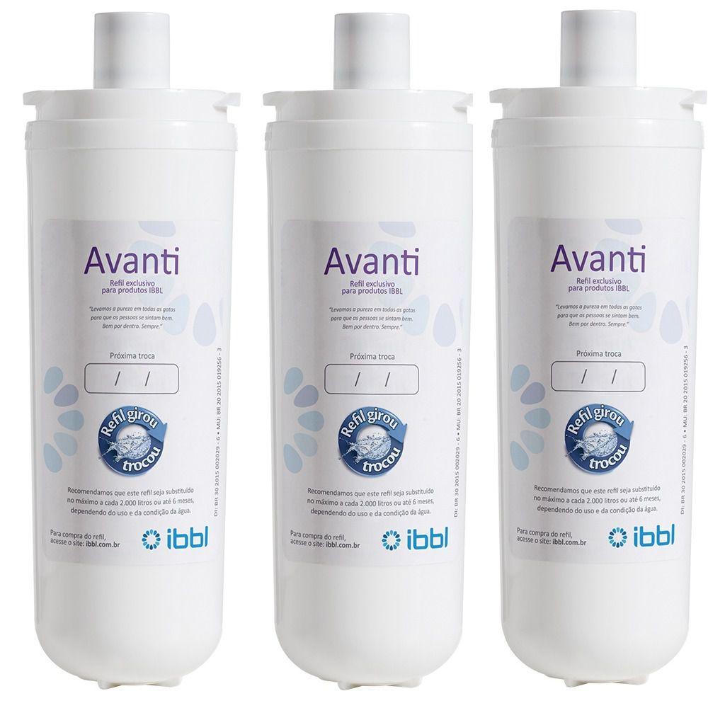 Refil Filtro Purificador de Água IBBL Avanti MIO Orignal Kit 3 Peças