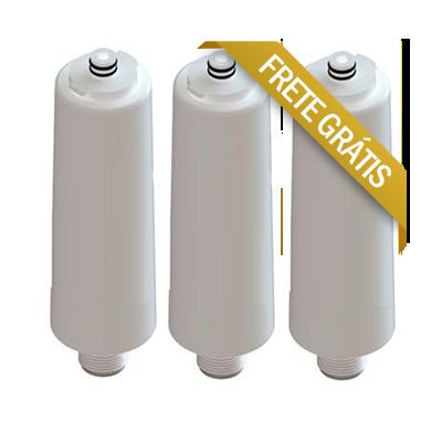 Refil Filtro Para Purificador Libell Flex Similar - Kit 3 Peças