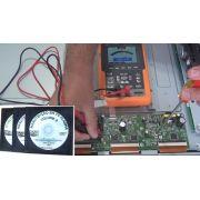 MANUTENÇÃO EM TELEVISORES PLASMA EM VÍDEO - DVPDP01 - EM TRÊS DVDs