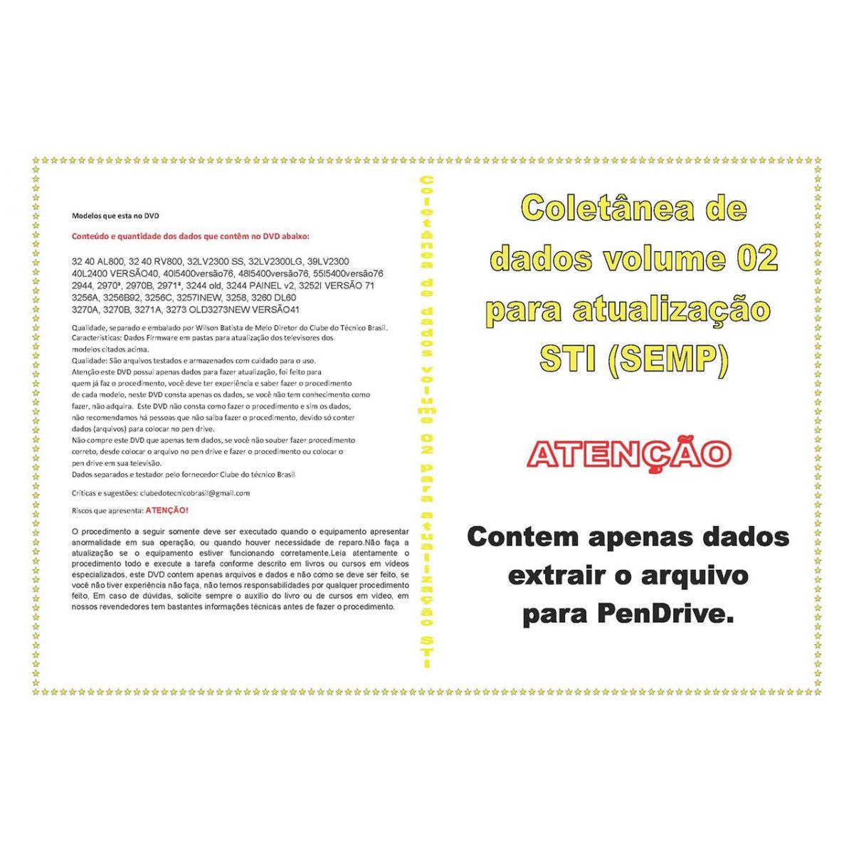 COLETÂNEA DE DADOS VOLUME 2 PARA ATUALIZAÇÃO STI (SEMP)