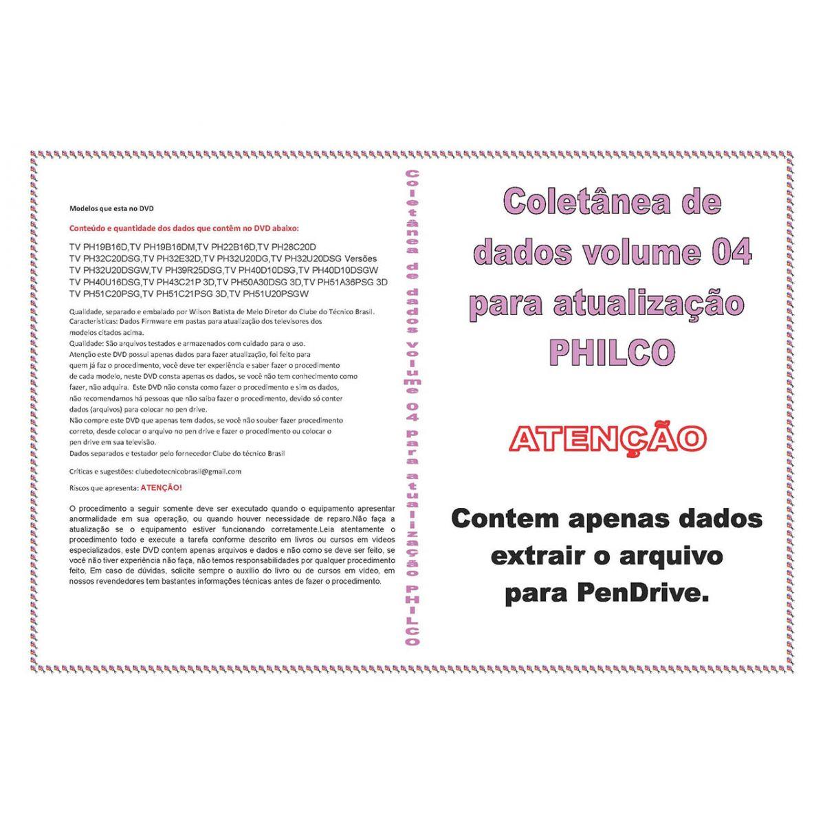 COLETÂNEA DE DADOS VOLUME 4 PARA ATUALIZAÇÃO PHILCO